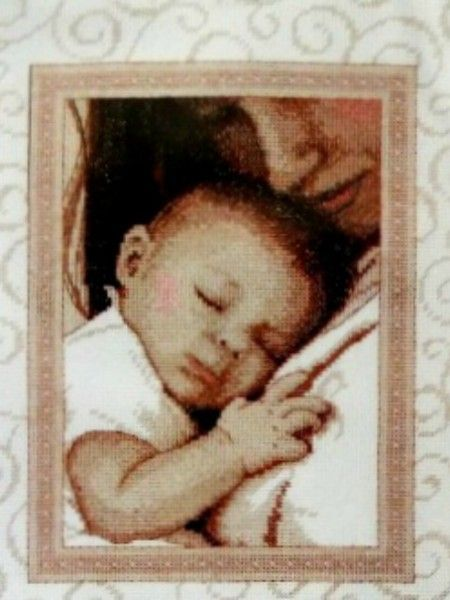 Dimensions Peaceful Baby Cross Stitch Kit 70-73992