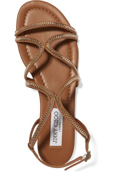 c03d9d6cf19 Jimmy Choo - Nickel Embellished Leather Sandals - SALE20 at Checkout for an  extra 20%