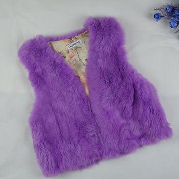Chaleco de piel de conejo Real abrigos para mujeres 2015 otoño invierno marca venta chaleco de piel variedad de colores de moda fuera de desgaste de la alta calidad