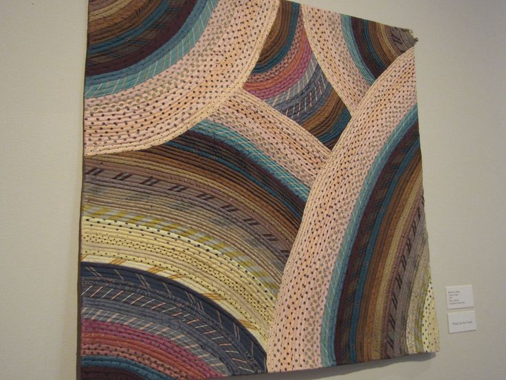 A silk quilt made by upcycling men's silk ties.  ~Cedarhurst Quilt Show Mt. Vernon, IL Very cool and well done!