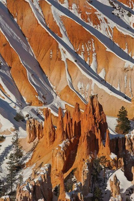 snow touched Bryce Canyon National Park, Utah