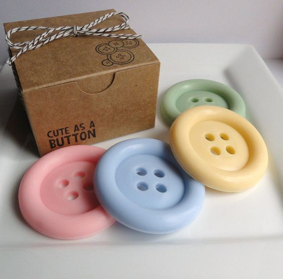 Cute as a Button Soap Set - Goat Milk Soap , gift for Her, Shaped soap, baby shower favors, soap favors, kids soap, mothers day, party favor