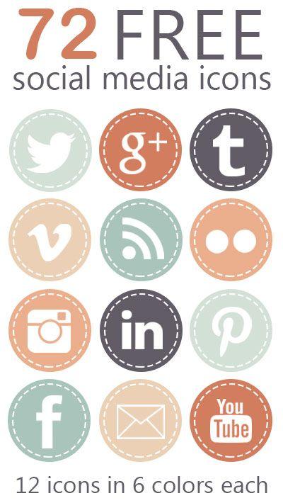 Free social media icon graphics.
