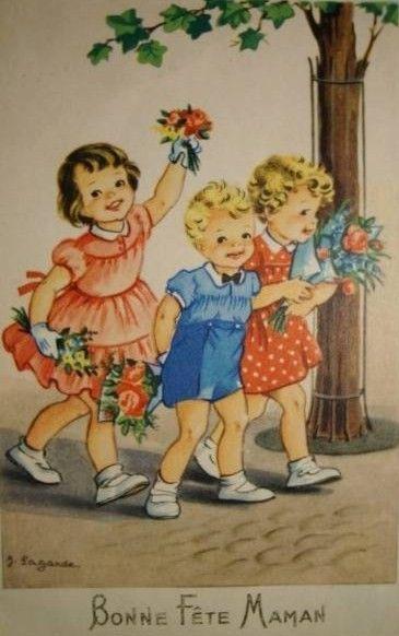 """Carte enfant """"bonne fête"""""""