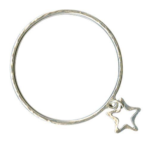 Danon Silver Bangle With Open Star|lizzielane.co.uk £25. http://www.lizzielane.co.uk/shop/danon-silver-bangle-with-open-star