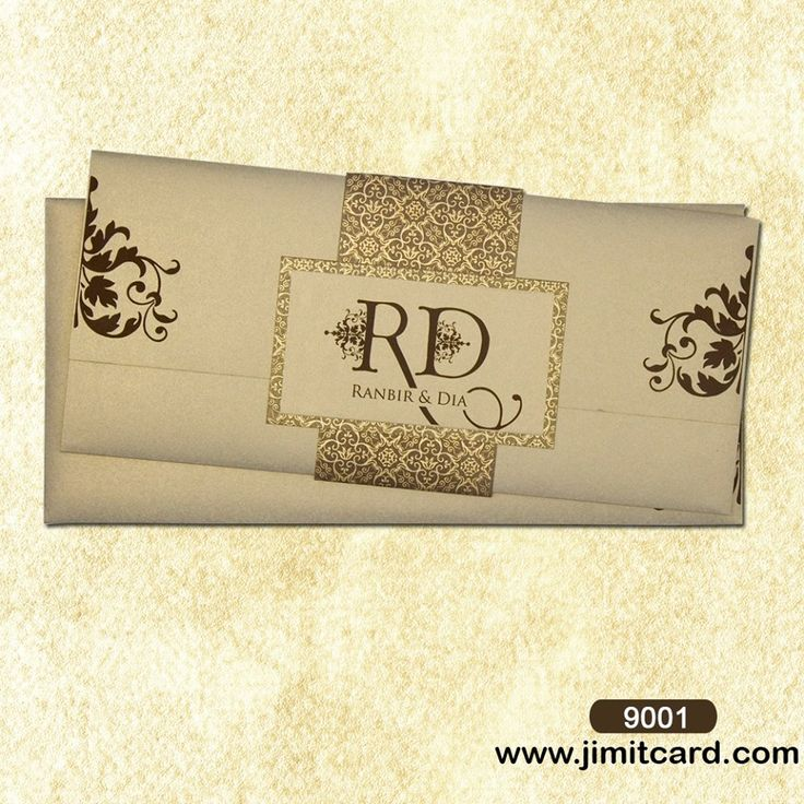 silk box wedding invitations indian%0A A Try Fold Indian wedding invitation in bright and vibrant colour is held  together with Paper