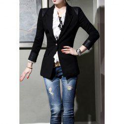 $16.75 #Fashionable Slim Fit Long Sleeved #Black #Blazer For #Women