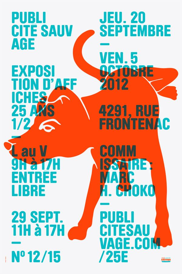 PUBLICITÉ SAUVAGE / 25th ANNIVERSARY EXHIBITION SERIES by Emanuel Cohen, via Behance