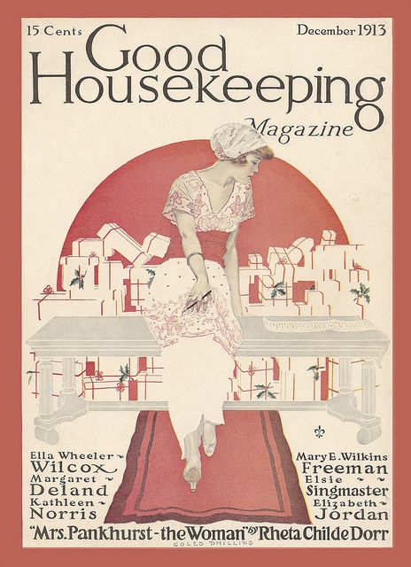 Coles Phillips : Cover art for Good Housekeeping, December 1913
