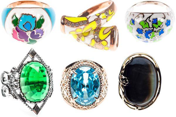 Дизайнерские большие кольца