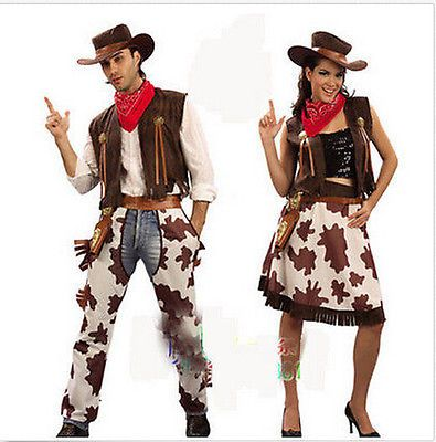 Halloween Costumes Couples: Halloween Womens Adult Performances Cowboy Costume Couples Costumes Suit G103 -> BUY IT NOW ONLY: $26.05 on eBay!