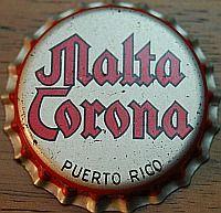 Malta Corona, bottle cap | Cerveceria Corona Inc., Santurce, Puerto Rico | cap used 1960-1965
