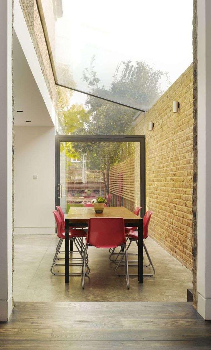 Agrandir sa maison extension modele toit vitre decoration mur