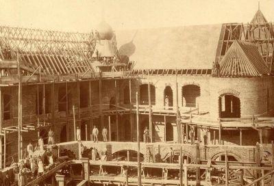 Épületfotó - az Iparművészeti Múzeum építés közben
