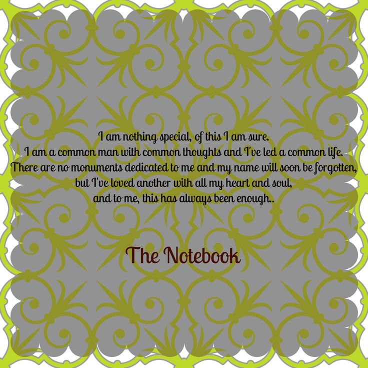 The Notebook Movie Quotes | The Notebook Quote - Deal Doll