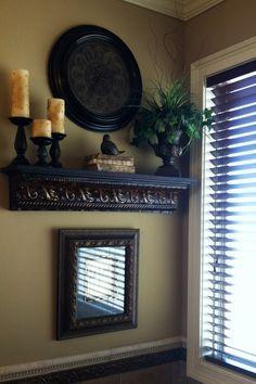 Old-world Style Rustic Shelf Display