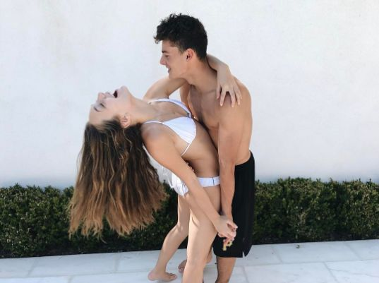 2017- theyre so cute together, obviously its hard to maintain a long distance relaitionship but they make it seem so easy - Jack kelly- australia Maddie Ziegler-America