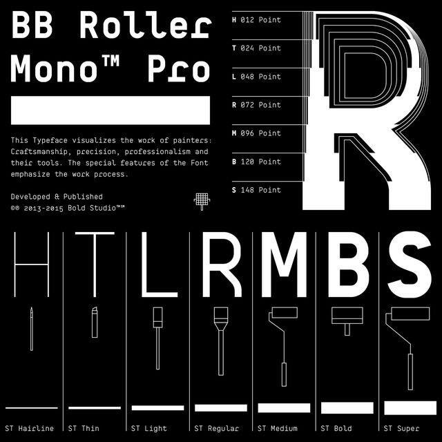 Bold Studio / BB Roller Mono ST / Typeface / 2017