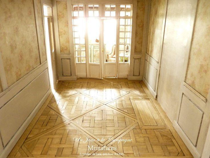 *♥ Atelier de Léa - Un Jour à la Campagne ♥*: Le salon romantique - Parquet Versailles - Boiseries - Cheminée - Trumeau
