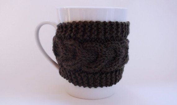 Knitted Green Mug Cozy Mug Warmer Mug Hug by HelenKurtidu on Etsy