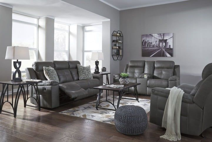 Jesolo Gray Reclining Living Room Set From Ashley Coleman Furniture Grey Leather Living Room Furniture Leather Couches Living Room Living Room Grey