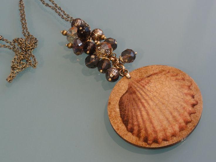 Biżuteria - muszle w kwarcach dymnych