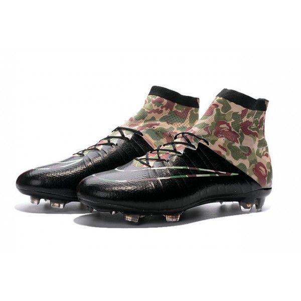 Crampons Football Neuf 2016 Nike Mercurial Superfly FG Camouflage Noir