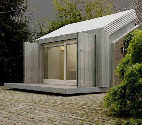 Dutch studio architecten en en have created a home office for Small office in garage