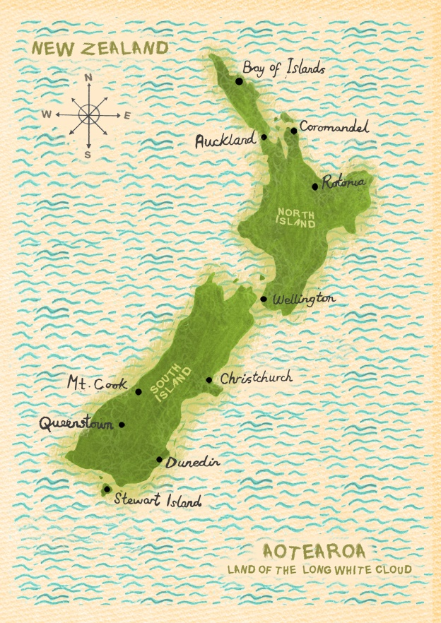 48 best NZ map images on Pinterest  Map of new zealand
