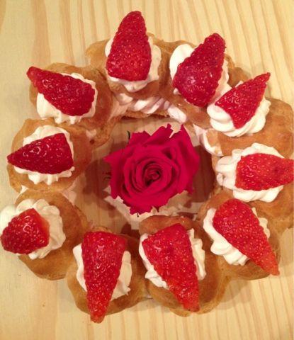 Corona de fresas para las mamás!!