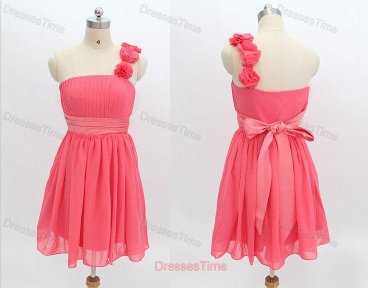 Junior bridesmaid dress pink bridesmaid dress short by dressestime, $89.99