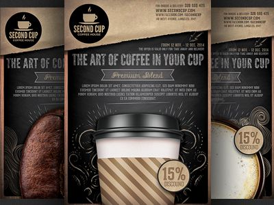 10 best флаер images on Pinterest Flyers, Album covers and - coffee shop brochure template