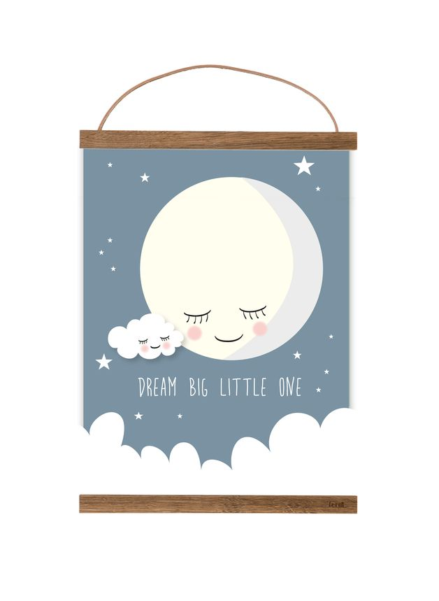 Motivierendes Poster, Bild mit Nachthimmel, Kinderzimmereinrichtung, Wandgestaltung, Kinderzimmer Accessoire / motivational poster, picture with night sky, children's room decor, wall decor, rooom decoration, kid's room accessory made by Mimirella-aus-Liebe via DaWanda.com