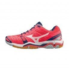 Mizuno Wave Stealth 4 X1GB160063 indoorschoenen dames diva pink #mizuno #indoorschoenen #korfbal #handbal #volleybal