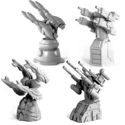 Defense Gun Turret (Multiple Designs)