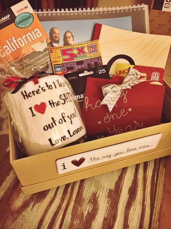 1st Anniversary Paper Gift Box Idea For Husband 1 Year