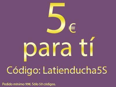 5€ de regalo por ser seguidor nuestro. Sólo hay 50 vales!!!!! Invita a tus amigos! Código: Latienducha5S