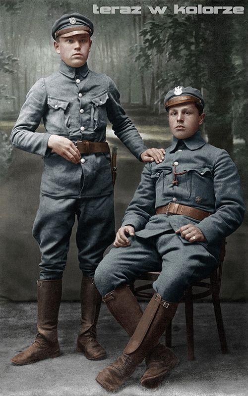 Władysław Błaszczyk - 4 pułk piechoty Legionów Polskich, Józef Banaszczak 1 Brygada Legionów - skauci z Tomaszowa Mazowieckiego (Rawskiego), M.P. Baranowicze, 28 październik 1916 r.
