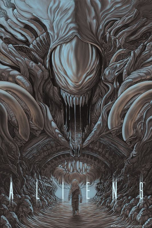 ALIENS | Poster by Randy Ortiz | mondotees.com