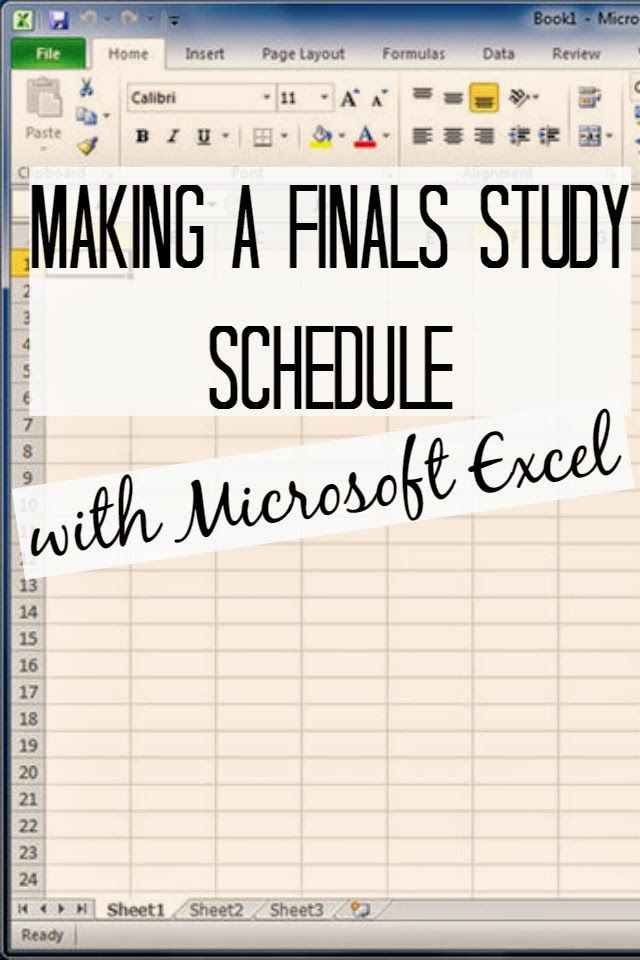 How To: Make a Finals Study Schedule with Microsoft Excel | Seeking the South