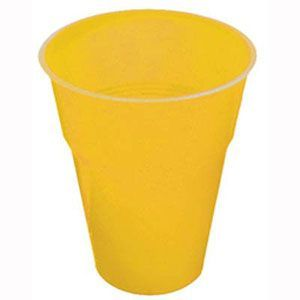 FS5026YE - Yellow Plastic Cups. Pack of 8 Plastic yellow cups. Pack of 8