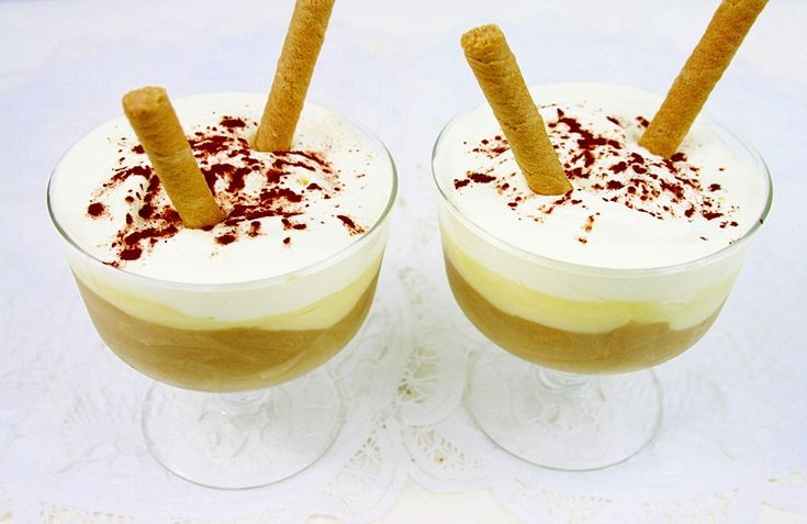 "Desert la pahar "" Vanilla – Cappuccino"""