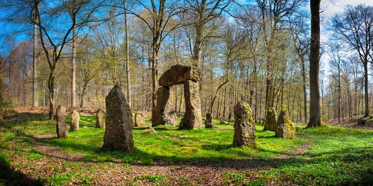 A tiny Stonehenge in Brussels forest.