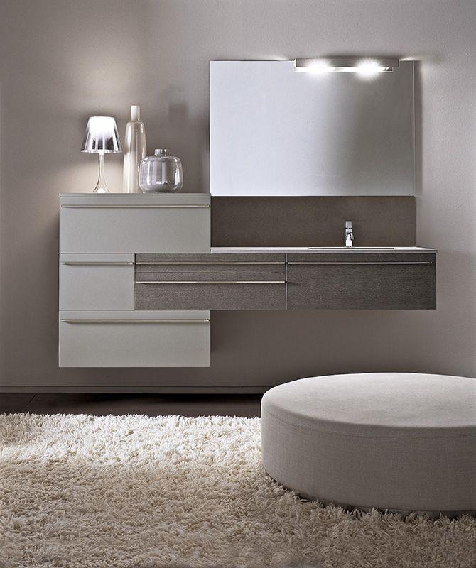 Lignum by Karol Designer: Giancarlo Vegni Stile limpido, eppure dotato di forza plastica #design #interior #bagno #bathroom #karol #arredo