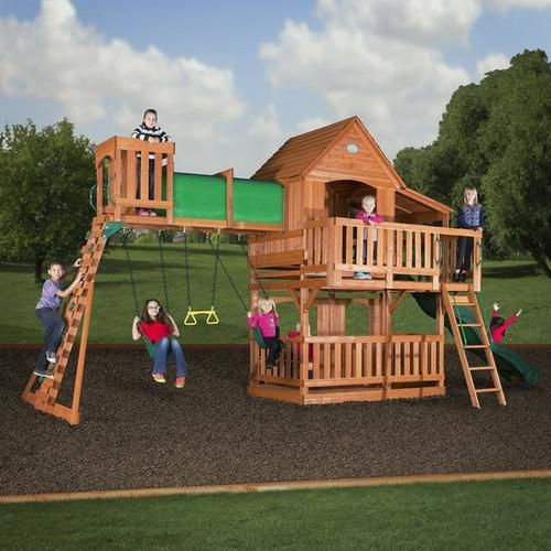 $400 off Backyard Discovery All Cedar Wooden Swing Set!