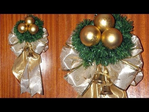 Adorno Navideño para la Puerta de Casa - DIY - Christmas Decoration to the Door - YouTube