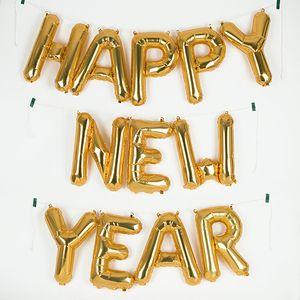 Kit de ballons mylar doré - Happy New Year