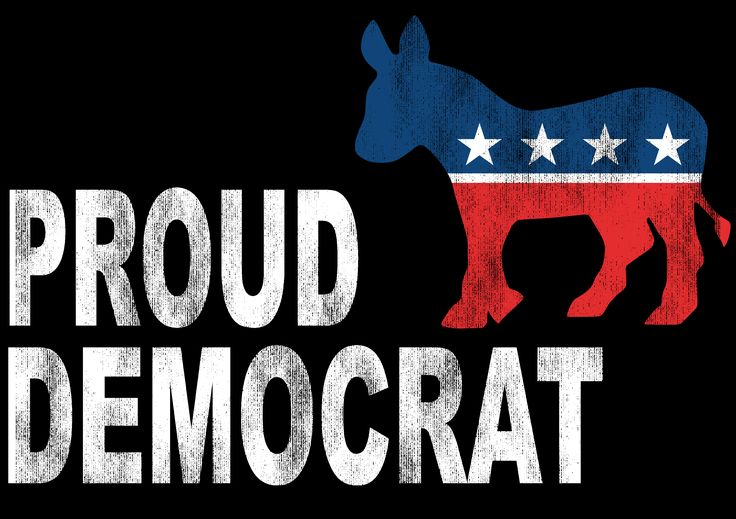 Shop4Ever® Proud Democrat Political Shirts