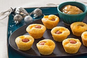 Mini Corn Dog Muffins recipe - try for Leighto, would also make a tasty little appetizer for kid party