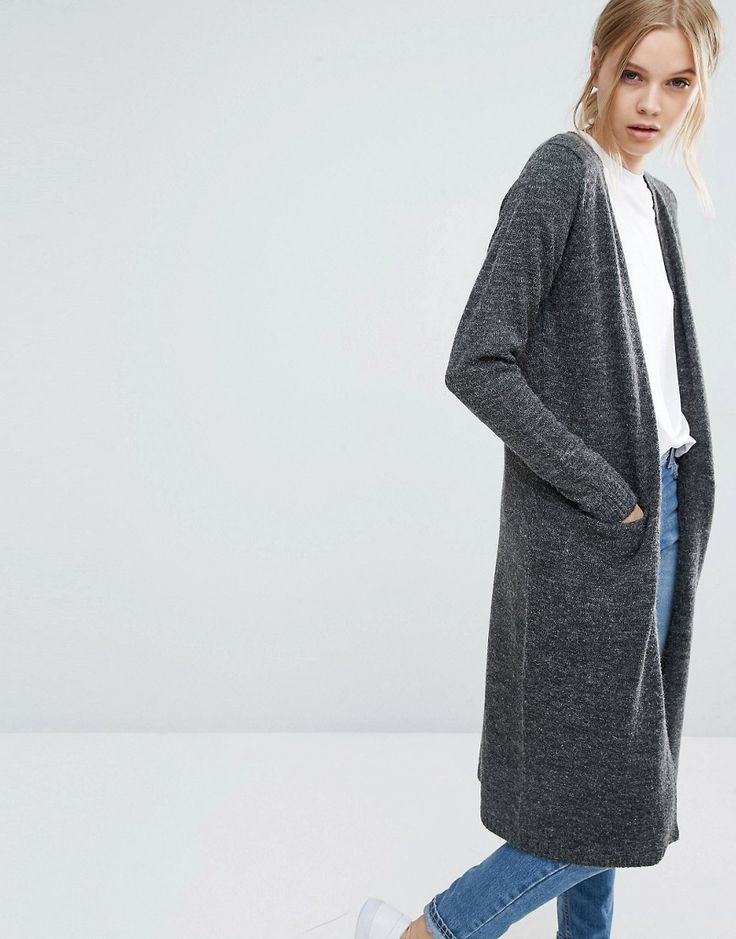 Long Cardigan in any grey, black, or tan (like a camel)